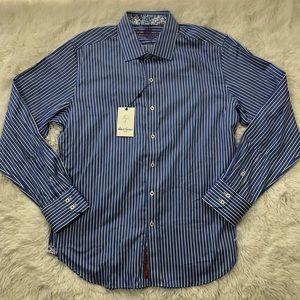 Robert Graham Shirts - Robert Graham L Button Down The Reflex Striped New